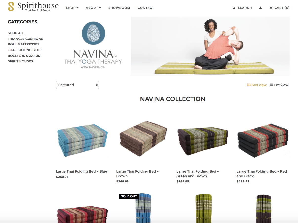 Thai Massage mats, thai massage bolsters, Thai beds, thai massage products canada